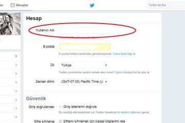 Twitter Kullanıcı Adı Değiştirme