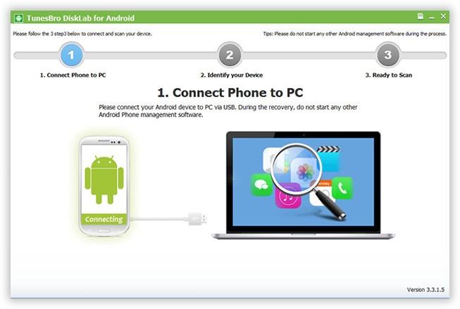 Android için Tunesbro DiskLab'ı kurun