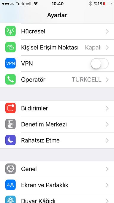 WhatsApp bildirim kapatma iphone