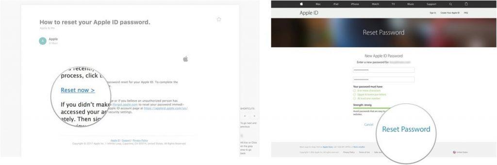iCloud şifremi unuttum