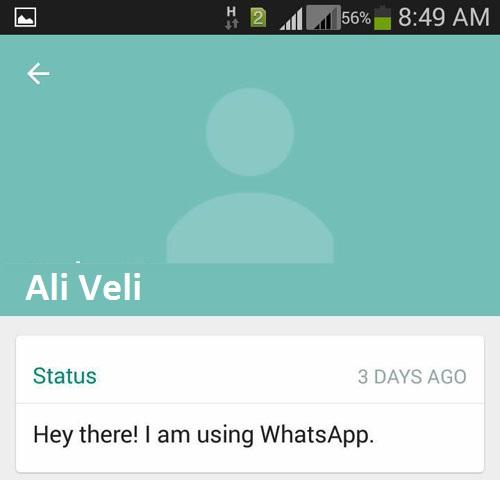 Whatsapp profil resmi yok