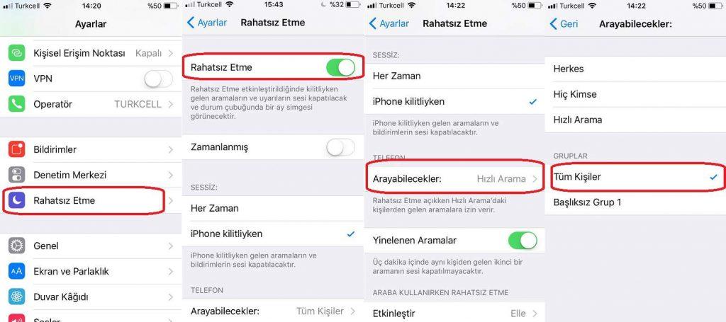 iPhone Gizli Numara Engelleme
