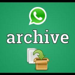 WhatsApp Arşiv Nerede