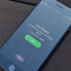 iPhone kilit ekranına yazı yazma