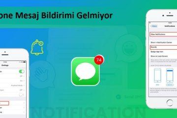 iphone mesaj bildirimi gelmiyor