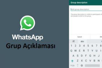 WhatsApp Grup Açıklaması Nasıl Eklenir