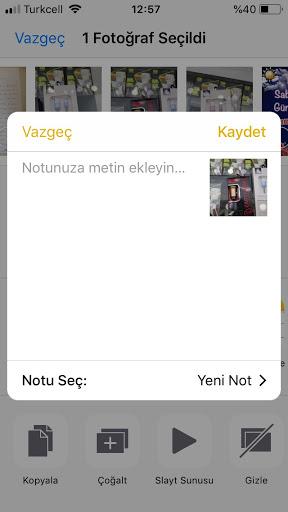 iphone galeri şifreleme