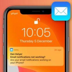 iPhone Mail Bildirimleri Gelmiyor